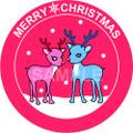 No.845 クリスマスのイラスト 可愛いトナカイ