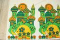 ゾウの宮殿のレトロファブリック(139×156cm)