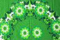 スウェーデンで見つけた緑の花柄のプリントクロス(83.0×53.5cm)