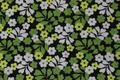 スウェーデンで見つけた小柄な花柄ファブリック(151.0×152.0cm)