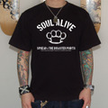 SOUL ALIVE T-SHIRTS(DISASTER POINTS×SPREAD×LOWRANK トリプルネーム)[BLACK]