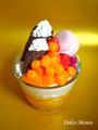 【ワークショップ】マンゴーパフェのメモスタンド(Mサイズ)