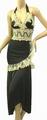 1020サテンストレッチ刺繍ドレス