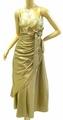 1036 胸元刺繍にリボン ロングドレス