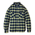Addiction KUSTOM THE LIFE LONG SLEEVE FLANNEL SHIRT YELLOW×BLUE