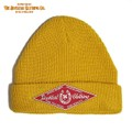 "DUCKTAIL CLOTHING ""HORSESHOE"" KNIT CAP MUSTARD"