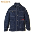 "DUCKTAIL CLOTHING ""RAILROAD JACKET"" INDIGO WABASH(ONE WASH)"
