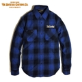 "DUCKTAIL CLOTHING""NEEDY"" FLANNEL SHIRT BLUE"