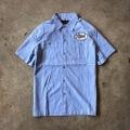 "新作入荷!!DUCKTAIL CLOTHING SHORT SLEEVE STRIPE WORK SHIRT ""TRUCKIN'"" BLUE"