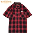 "DUCKTAIL CLOTHING SHORT SLEEVE OPEN COLLAR CHECK SHIRTS ""UNRIPE"" RED"