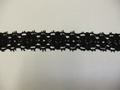 綿レース23mm幅:黒(23-23)