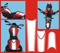 Ducati モンスター 696 カスタムグラフィック ステッカー