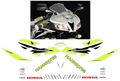 CBR1000RR/CBR600RR レース グラフィックデカール ステッカー1