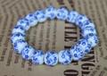 かわいい!青花柄の陶器製ブレスレット!