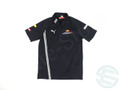 レッドブル レーシング 2009年 支給品 速乾性 USP 半袖 ハーフZIP ポロシャツ メンズ S 3/5