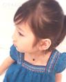 お子さま用 / 14金ゴールドフィルドスモーキークォーツ・ドロップネックレス(30cm)