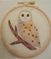 Becky Hogg Goldwork Owl