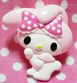 【10個セット】斜めピピマイメロ(1)(薄ピンク頭巾 濃ピンク×白ドットリボン)