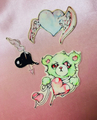「 green bear and dreaming heats 」ERICO Sticker bitz mix /smartphone size