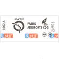 パリ シャルルドゴール 空港/市内 RER 乗車券