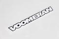 VOOMERAN ステッカー 白文字/黒枠 W200mm