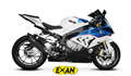 EXAN S1000RR 15-16 OVAL X-BLACK スリップオンマフラー
