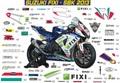 GSX-R1000 SBK/MotoGP グラフィック デカール ステッカー
