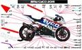 S1000RR 15' TYCO グラフィック ステッカー