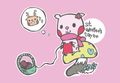 ロクちゃん ポストカード バレンタイン