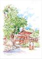 ひとまち百景ポストカード 春日大社(中門・御廊)