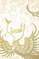 天平紋様ご朱印帳 金銀平脱八花鏡