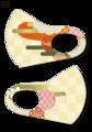 絵図屋オリジナル柄マスク01(2枚入)
