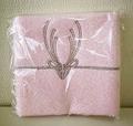 贈りたいハンカチ 鹿の水引デザイン ピンク