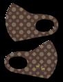 天平文様ファッションマスク 紫檀木画槽琵琶