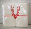 贈りたいハンカチ 鹿の水引デザイン ホワイト