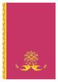 正倉院紋様 クリアファイル ピンク