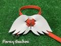 羽飾りハーネス・オレンジ (ミンクル革製)