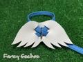 羽飾りハーネス・ブルー (ミンクル革製)