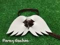 羽飾りハーネス・ブロンズ (ミンクル革製)