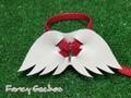 羽飾りハーネス・レッド (ミンクル革製)