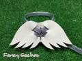 羽飾りハーネス・シルバー (ミンクル革製)