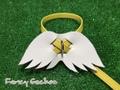 羽飾りハーネス・イエロー (ミンクル革製)