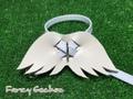 羽飾りハーネス・ホワイト (ミンクル革製)