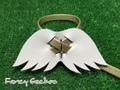羽飾りハーネス・ゴールド (ミンクル革製)