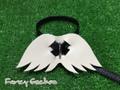 羽飾りハーネス・ブラック(ミンクル革製)