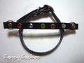 ヴォーノレース牛革製 ハーネス用飾りリベット(クリスタル)