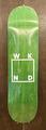 "WKND deck silkscreen print logo WHITE assorted veneers 8"" or 8.25"""