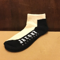 satori socks half link ankle BLACK/NATURAL