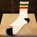 satori socks rasta stripe crew NATURAL