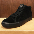 state shoe harlem up town BLACK/BLACK suede